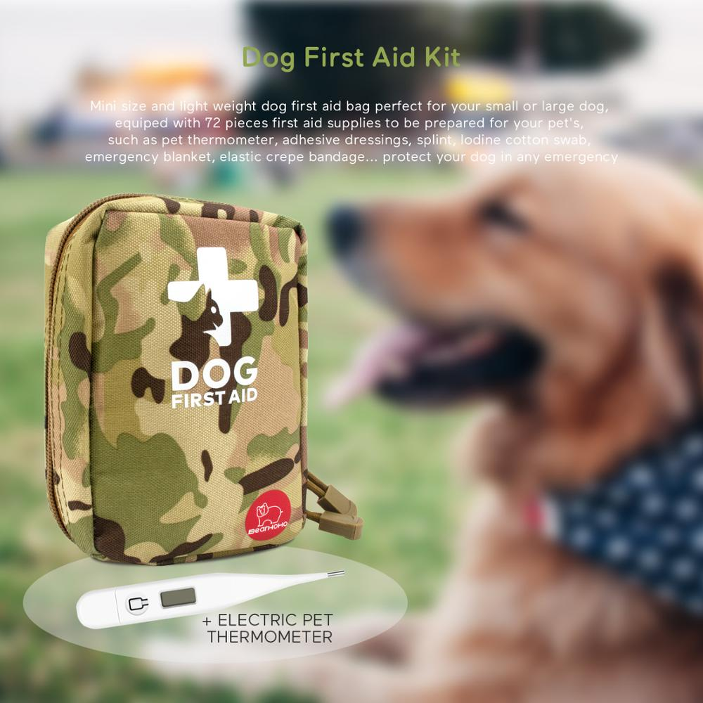 Mini Portable Pet First Aid Box Dog Survival Kit Military Dog Emergency Rescue Medical Bag, Pet Medical Supplies Storage Bag Set