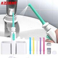 Azdent 6 bicos torneira oral irrigator água dental flosser portátil único múltiplo jato de água spa oral irrigação dentes mais limpo