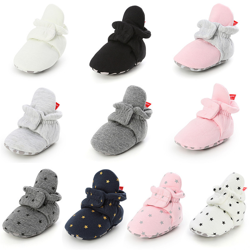 Newborn Baby Socks Shoes Winter Boy Girl Toddler First Walkers Booties Cotton Comfort Soft Anti-slip Warm Infant Crib Shoes