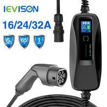 Ievis – chargeur de Type 2 EV pour véhicule électrique Portable de niveau 32 a, prise CEE 220V-240V EVSE, câble de chargement de voiture, IEC 62196-2 6M