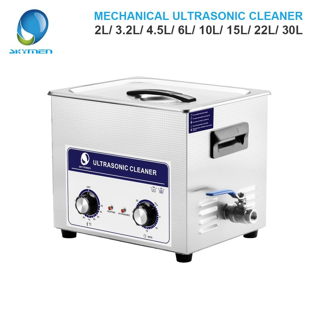 SKYMEN bouton mécanique nettoyeur à ultrasons bain 2L/3.2L/4.5L/6L/10L/15L/22L/30L nettoyeur de pièces nettoyeur à ultrasons