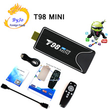 T98 MINI PC Dongle Miracast Bluetooth WIFI HDMI 6K HDR 6K Tv Stick Android 9.0 OS Quad Core 64bits 4G 32G Optional TV BOX