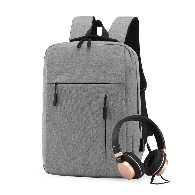 Cross Border Supply Of Goods Creative USB Charging Backpack Casual MEN'S Business Bag Waterproof Laptop Backpack A Generation Of