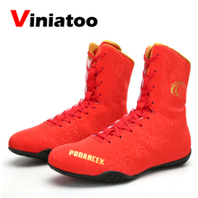 New High Quality Luxury Boxing Shoes Men Gold Red Comfortable Wrestling Shoes Male Size 36-45 Anti Slip Boxing Sneakers