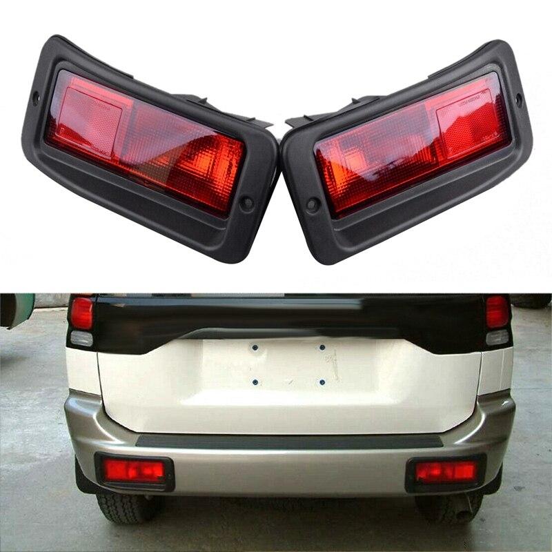 2 x задний бампер отражатель светильник задний светильник для Mitsubishi Pajero Montero Pajero Sport 1999-2008