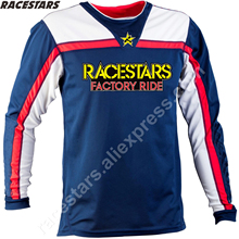 RACESTARS Cycling Jersey Motorcycle Riding Downhill Jersey MTB Off Road Mountain Bike DH Bicycle moto Jersey DH BMX motocross custom sublimation print men women downhill dh jersey customized mtb mountain bike motocross motorcycle bmx jerseys no minimum