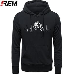 Image 5 - Venda quente moda cyclings batimento cardíaco padrão unissex hoodies, camisolas
