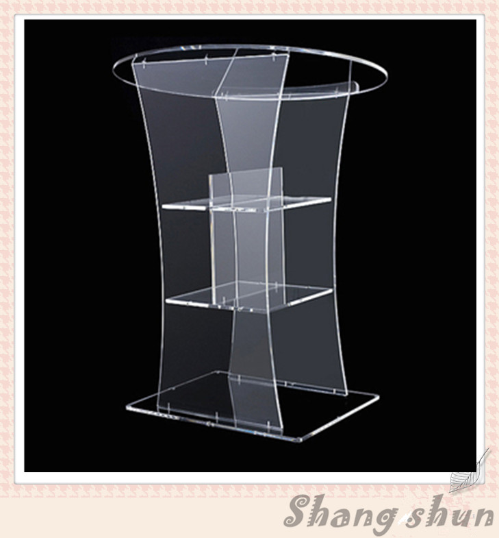 Floor Standing Acrylic Lectern Clear Plexiglass Podium Acrylic Pulpit For Church Acrylic Table Top Lectern