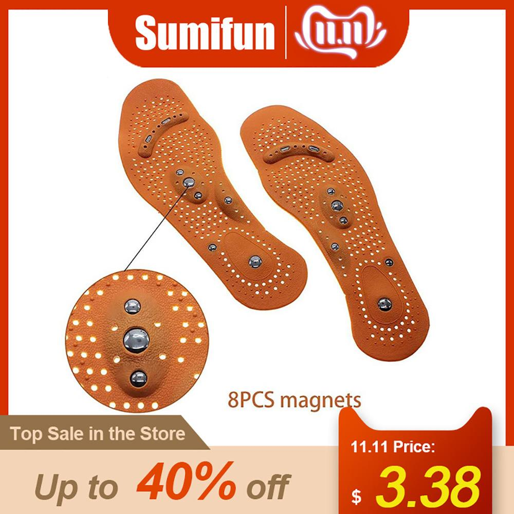 1Pair Men/ Women Magnetic Therapy Magnet Health Care Foot Massage Body Massager InsolesComfort Pads Foot Care Z50401