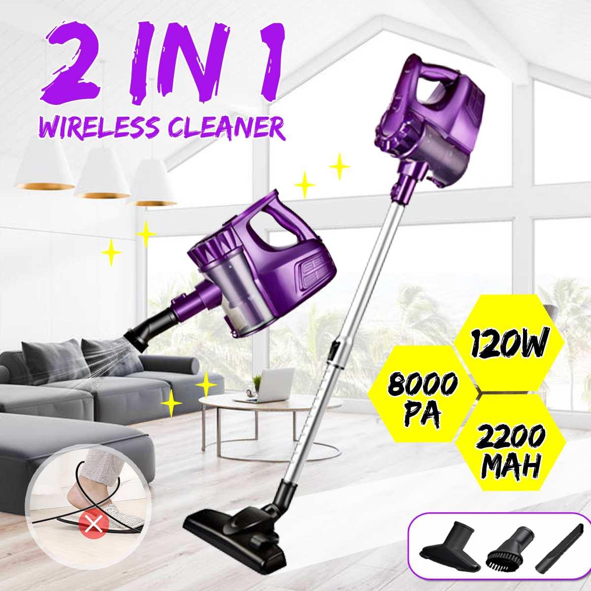 Tragbare 8000Pa 2 In 1 Handheld Wireless Staubsauger Zyklon Filter Starken Sog Staub Collector Nasensauger für Home Auto