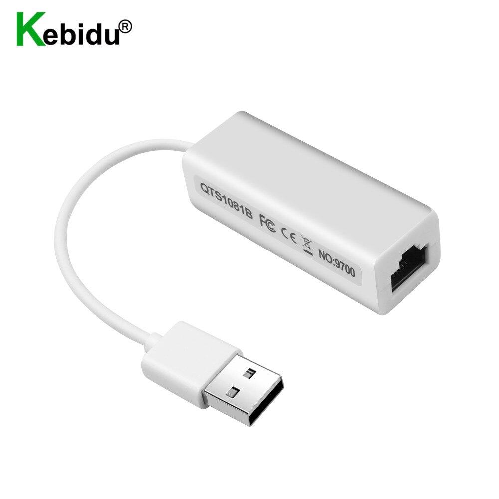 Kebidu высокоскоростной USB 2,0 к RJ45 сетевая карта Micro USB к RJ45 Ethernet Lan адаптер для ПК ноутбука Windows XP 7 8