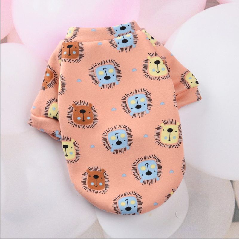 Cute Print Small Dog Hoodie Coat Winter Warm Pet Clothes for Chihuahua Shih Tzu Sweatshirt Puppy Cat Pullover Dogs Pets Clothing 15