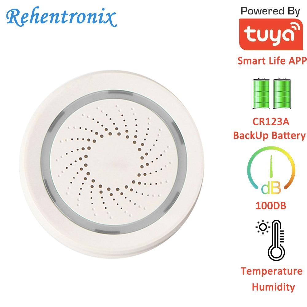 Tuya Smart Temperature Humidity 90DB Siren Alarm 3 In 1 Sensor