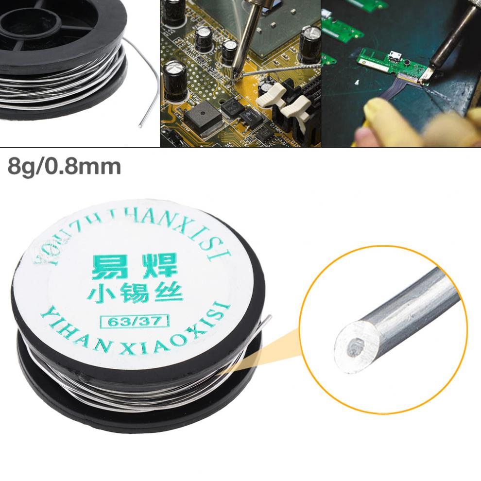 Tin and Lead 63/37 0.8mm Mini Solder Wire Tin Lead Wire Reel with 2% Flux and Rosin for Electric Soldering Iron