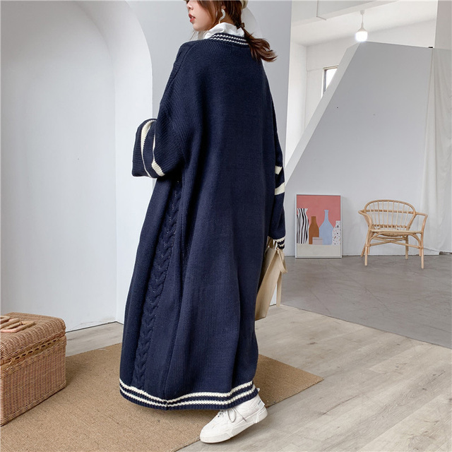 Long Style Autumn Knitted Sweater Popular Coat Cardigan4
