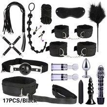 Bdsm bondage sexo mashine 10/13/15/17 peças, brinquedos de sexo para juguetes de bondage jogos de casais para adultos