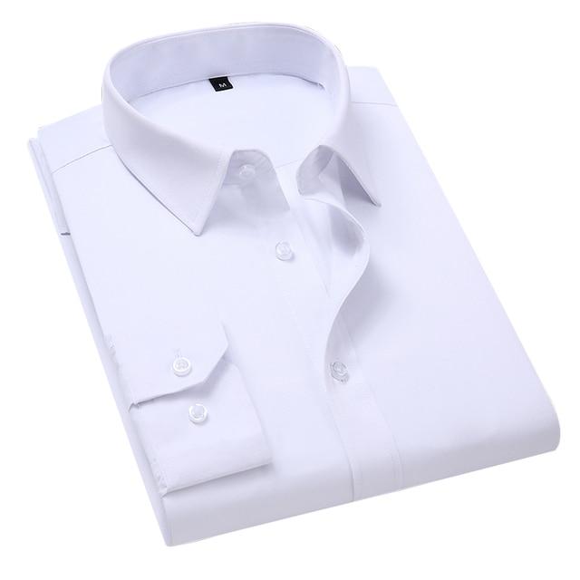 Классическая офисная мужская рубашка с длинным рукавом 4