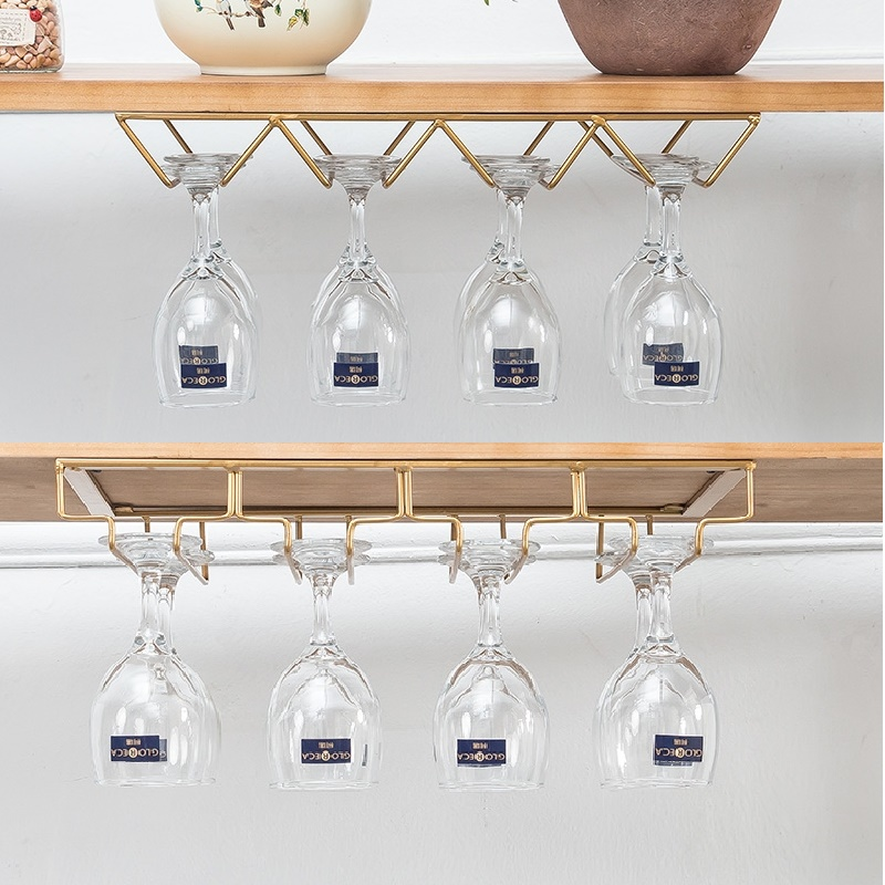 CF3 Creative Nordic Tieyi Hanging Red Wine Rack Creative Wine Cabinet Upside-down High-footed Glass Rack For Red Wine