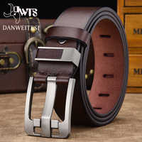 [DWTS]men's belt high quality leather belt men male genuine leather strap luxury pin buckle fancy vintage jeans free shipping