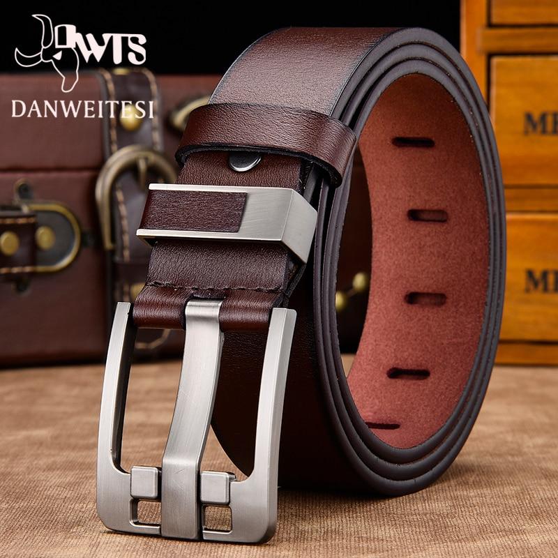 men belt male high quality leather belt men male genuine leather strap luxury pin buckle fancy vintage jeans free shipping