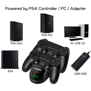 Image 2 - Data Frog PS4 Controller Joystick Handle Dual USB Charging Stand Fast Charging Dock Station for Playstation 4 PS4 Pro Slim Stand