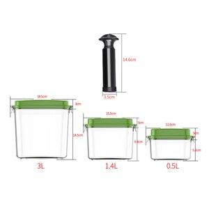 Image 2 - Вместительный пустой контейнер из АБС пластика для хранения еды, Квадратный пластиковый фотоконтейнер 500 мл + 1400 мл + 3000 мл