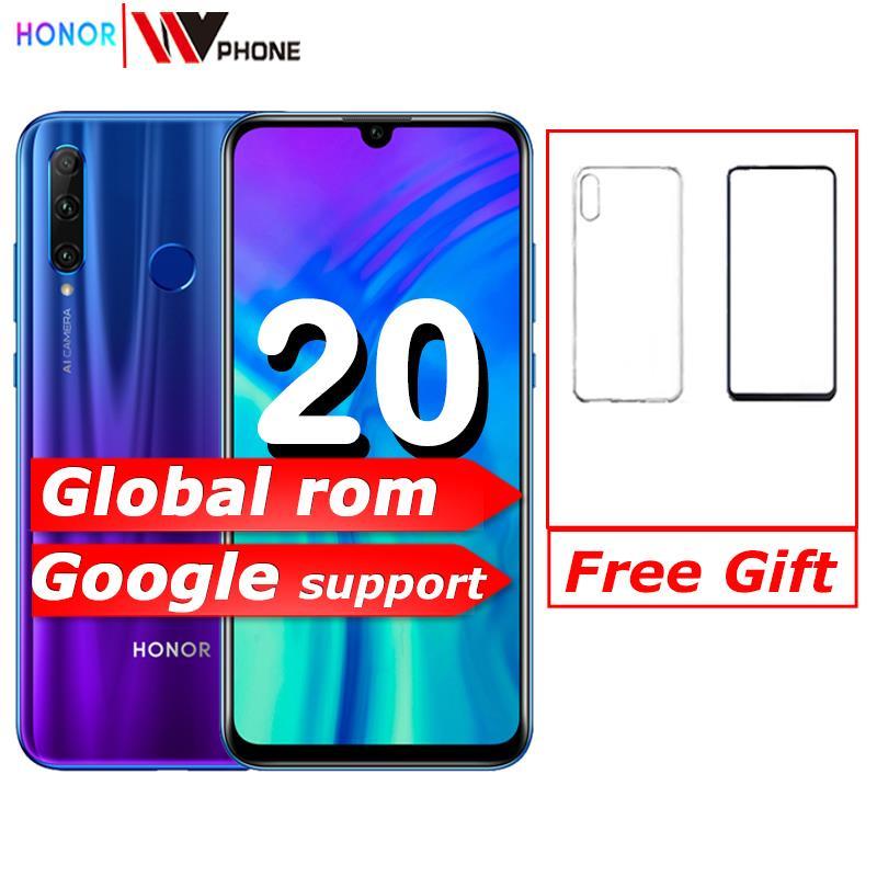 Original honor 20i honor 20 lite Handy 6,21 zoll Android 9,0 FM Gesicht Fingerprint Entsperren Smartphone