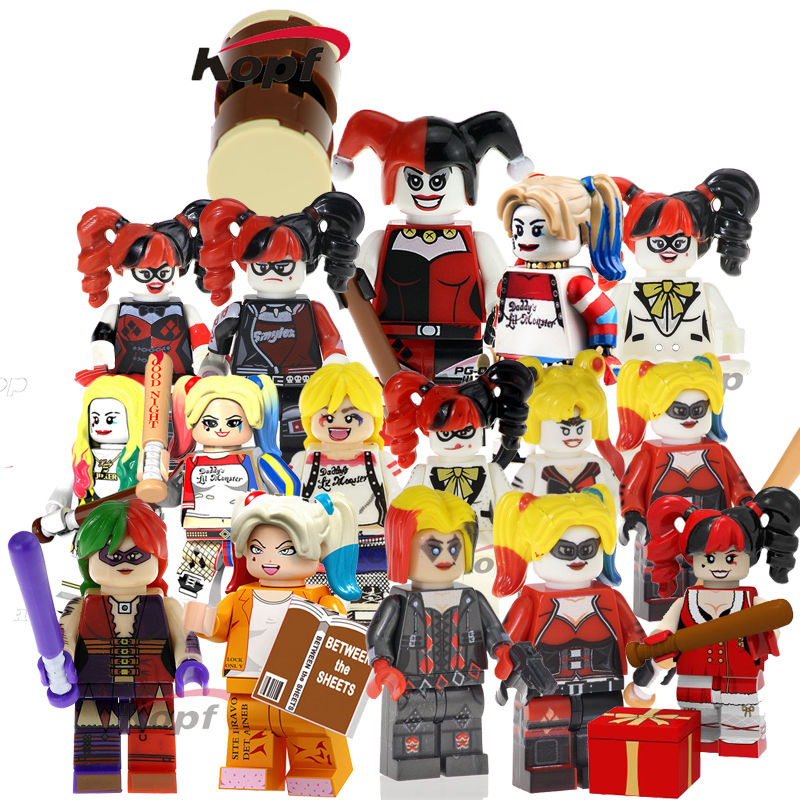 20pcs Brick Toys Harley Quinn Series Model Action Figures Anime Building Blocks Bricks Collectible Dolls For Kids Toys