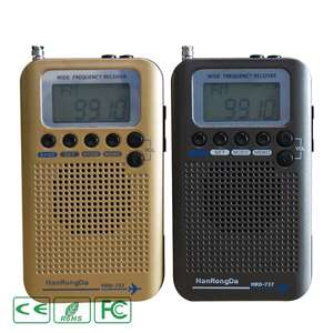Lcd-Display Radio World-Band Stereo-Receiver HRD-737 Alarm-Clock Digital Portable