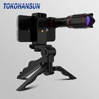 TOKOHANSUN 옵션 HD 32X 금속 망원경 망원 렌즈 monocular 모바일 렌즈 + selfie 삼각대 삼성 화웨이 모든 스마트 폰