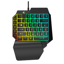 One handed Ergonomic Universal Laptops Wired USB Gaming LED Backlight Home 39 Keys Office Mobile Phone Keypad Keyboard