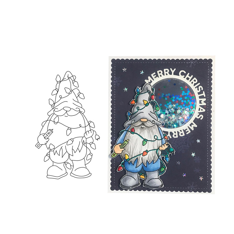 CH Santa Claus Clear Stamp Seal Yourself Scrapbooking Album Sheets Clear Card Stamps Scrapbooking Die Cut