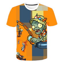 Children's Clothes Plants Vs Zombies Wars T-shirt Boys T shirt Kids Cartoon Tshirt Baby Girls Boys Clothing Summer Cool Tops Tee children s clothes plants vs zombies wars t shirt boys t shirt kids cartoon tshirt baby girls boys clothing summer cool tops tee