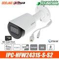 Dahua 4MP IP camera IPC-HFW2431S-S-S2 Starlight WDR IR Bullet Network Camera support POE