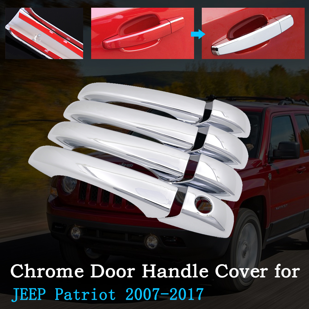 2011 2012 2013 2014 2015 JEEP PATRIOT+GRAND CHEROKEE CHROME DOOR HANDLE COVER