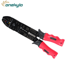 Crimping Pliers 3 in 1 Wire Stripper Scissors For Cutting Cable Leather Electrician Hand Tools