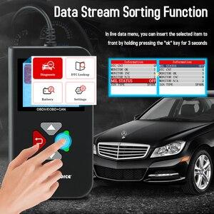 Image 2 - YA206 OBDII קוד Reader מנוע כבוי אור רכב אבחון כלים חיים משלוח החדש 12V OBD2 רכב סורק pk elm327