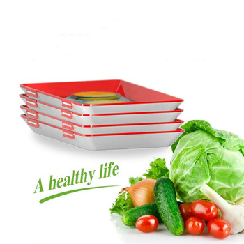 Nieuwe Lade Creative Voedsel Plastic Behoud Lade Keuken Items Voedsel Opslag Container Set Voedsel Verse Opslag Magnetron Cover