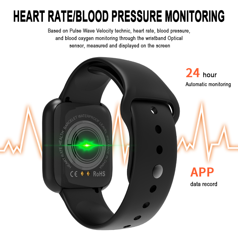I5 for Apple Watch Pedometer Music Control Multiple Dials Heart Rate Fitness Smartwatch Men Women Android IOS VS B57 Smart Watch 2