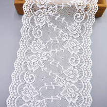 5Yards/Lot Elastic White Lace Ribbon African Fabric Sewing Embroidered Trim Wedding Dress Clothing Accessories