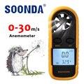2-в-1 ручной анемометр измерительный кондиционер на открытом воздухе скорость ветра, температура объем метр тестер измерения высокой точнос...