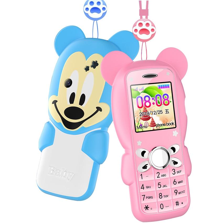 Super Mini Cute Children Student Mobile Phone Button Bluetooth Dual Sim Card SOS Do No Games GSM Unlock cellphone