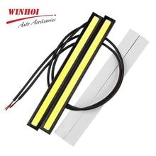 цена на Winhoi 17cm LED COB Car DRL Daytime Running Light Strip Waterproof 12V Emitting Diode Fog Light Lamp Bar Auto Work Light Strip