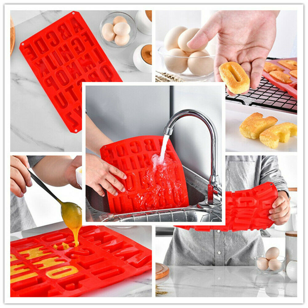 Large Silicone Alphabet Letter Mould Stencil Made For Chocolate Ice Jelly Baking