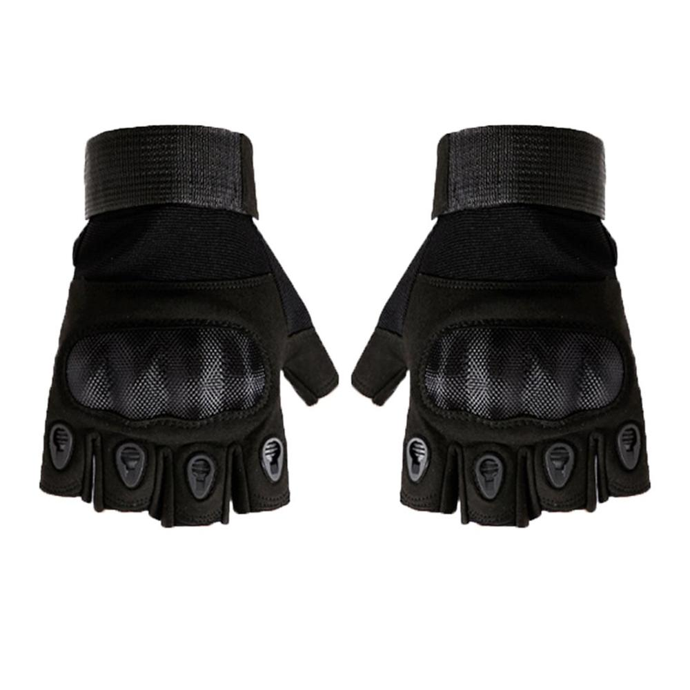 Half Finger Gloves Men'S Commando Combat Carbon Fiber Non-Slip Wearable Outdoor Mountaineering Riding Tactical Gloves