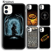 Krajews Lord of The Rings LOTR Phone Case Cover For iPhone 5s 6s 7 8 plus X XS XR 11 pro max Samsung Galaxy S7 S8 S9 S10 Plus(China)