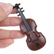 1/12 Dolls House Miniature Plastic Violin Music Instrument Model Accessories Toy