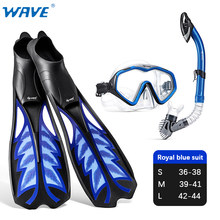 2021 NEW Swimming Fins Diving mask Adult long Snorkel Foot diving Equipment Portable scuba diving Flippers Snorkeling goggles