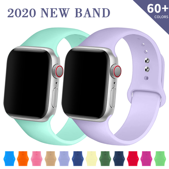 sport strap for apple watch band 44mm 40mm 42mm 38mm silicone bracelet smart wristband correa for iwatch series 6 5 4 3 2 1 se Silicone Strap For Apple Watch Band 44mm 40mm 38mm 42mm Rubber Belt Correa Wristband Sport Bracelet iWatch Series 12 3 4 5 SE 6
