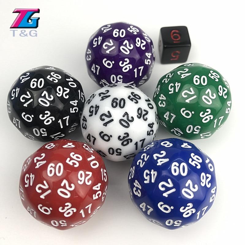 60 seitige D60 Big Digital Würfel Spielzeug rpg DnD dados polyhedral